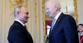 """Usa-Russia, leader divisi su cybersicurezza. Ma si apre """"spiraglio di fiducia"""". Biden: """"Nuova Guerra Fredda non serve a nessuno"""". Putin: """"Lui molto diverso da Trump"""""""