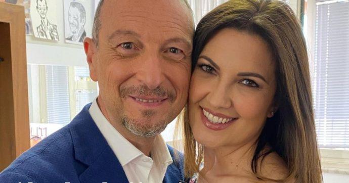 Amadeus e Giovanna Civitillo pronti a condurre insieme Affari Tuoi?