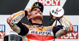 """Moto Gp, Marquez torna alla vittoria nella """"sua"""" Germania. Dietro di lui Oliveira e Quartararo. Quinto Bagnaia"""