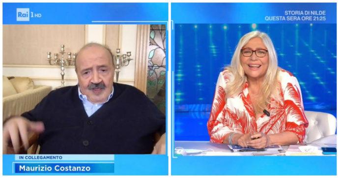 """Domenica In, Mara Venier scoppia a piangere e Maurizio Costanzo: """"Falla finita"""""""