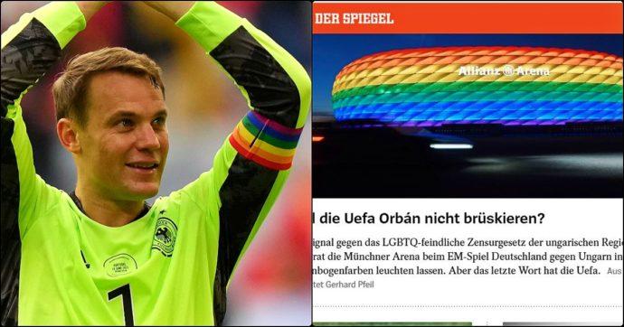 Europei, Germania-Ungheria: Neuer con la fascia arcobaleno per i diritti Lgbt. E Monaco vuole colorare lo stadio in protesta con Orban