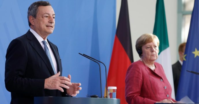"Euro 2020, Merkel dopo Draghi: ""Finali a Londra? Uefa sia responsabile"". Accordo Johnson-Ceferin: a Wembley 60mila spettatori"