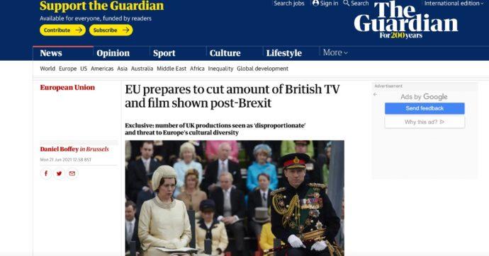 """Guardian: """"L'Ue ha un piano per ridurre la presenza di serie tv e film di produzione britannica da Amazon e Netflix"""""""