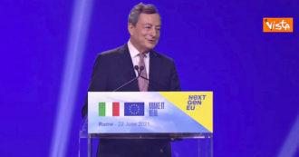 """Ddl Zan, Draghi: """"Vaticano? Domani sarò in Parlamento e risponderò in maniera strutturata, è una domanda importante"""""""