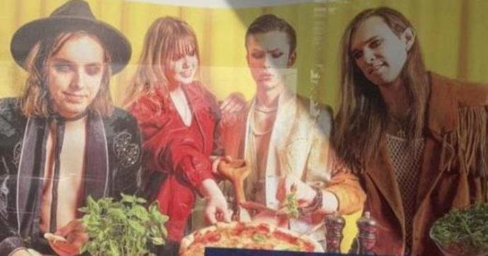 Maneskin, i sosia nella pubblicità della mozzarella per la pizza surgelata: la trovata in Lettonia