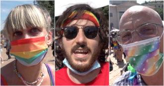 """Milano Pride, la piazza in sostegno del ddl Zan: """"Legge di civiltà, chi non si espone è complice"""" – Video"""