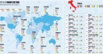 Delta e le altre, ecco come si muovono le varianti del Covid nel mondo: il numero dei contagi e i dati disponibili Paese per Paese