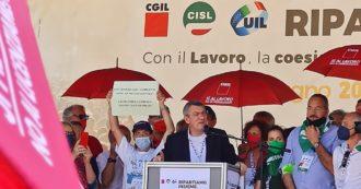 """Licenziamenti, Cgil, Cisl e Uil chiedono proroga dello stop fino a fine ottobre in tutti i settori. Landini: """"A Draghi dico che sbloccarli è un errore. Non creare nuove fratture sociali"""""""