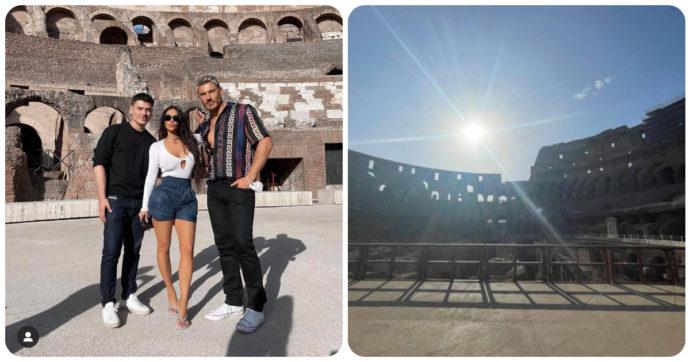 Kim Kardashian a Roma: le foto al Colosseo e il dettaglio che non è passato inosservato