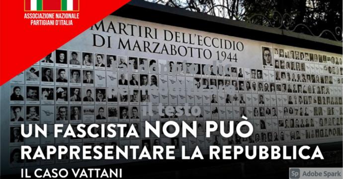 """Anpi, dalla commemorazione di Marzabotto il messaggio sul caso Vattani: """"Nessun fascista può rappresentare la Repubblica"""""""