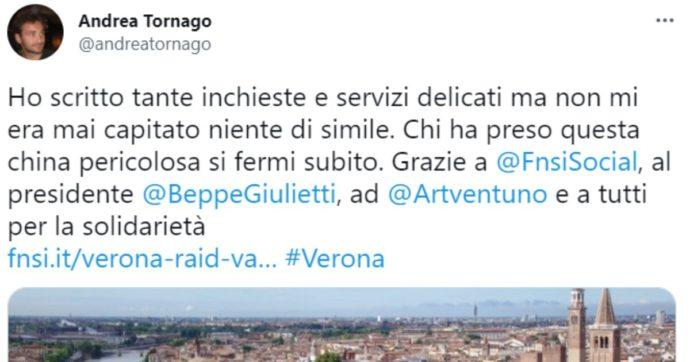 Verona, spazzatura sull'auto del giornalista Andrea Tornago. La solidarietà del Fatto Quotidiano e del FattoQuotidiano.it