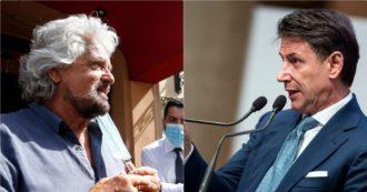 """Conte: """"Il mio progetto politico non resterà nel cassetto, c'è sostegno dei cittadini. Grillo? Non dica falsità su di me, se vuole pubblichiamo le mail"""". Le accuse del garante: """"Il suo statuto? Al centro c'era solo lui"""""""