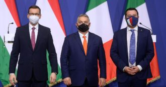 """In Italia con Draghi (che vuole al Colle), in Ue i patti con Orban: la doppia linea di Salvini. Letta: """"Non si possono fare entrambe le cose"""""""