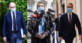 """Letta e Di Maio blindano Draghi: """"Avanti fino a 2023"""". Ma la Lega ora vuole cacciare il Pd: """"Noi e Orban? Se non gli va bene, esca dal governo"""""""
