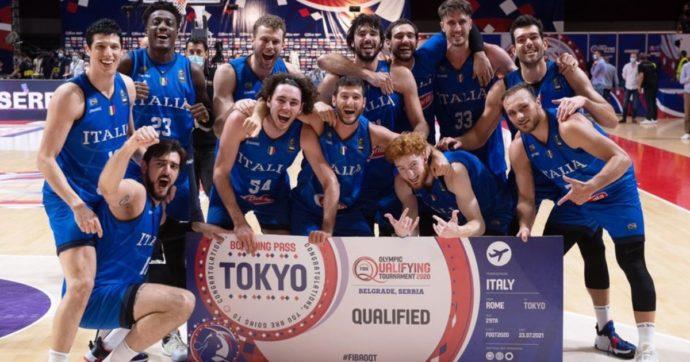 Impresa della Nazionale di basket: batte la Serbia in trasferta e si qualifica alle Olimpiadi. A Tokyo sarà record per il Coni: 384 azzurri
