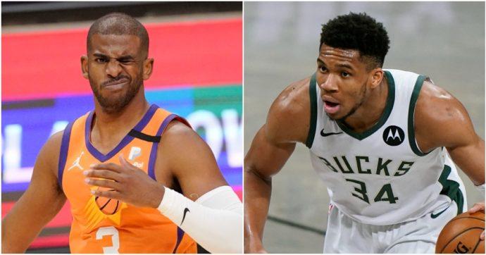 Nba, si alza il sipario sulle Finals tra outsider: i Suns dell'infinito Chris Paul sfidano i Bucks di Antetokounmpo reduci da 50 anni di vuoto
