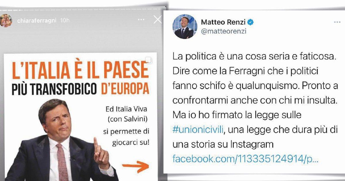 """""""Che schifo che fate"""". I Ferragnez contro Renzi e Salvini fluidi"""