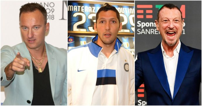 """Azionariato popolare dell'Inter: aderiscono Marco Materazzi, Amadeus e Facchinetti. L'ex difensore nerazzurro: """"Un atto d'amore"""""""