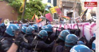 Venezia, tensione al G20. Un gruppo di manifestanti ha tentato di violare la zona rossa ed è stato fermato dalla polizia: il video