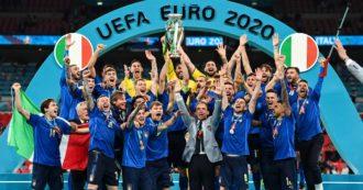 Italia campione d'Europa, la finale degli Europei fa esplodere l'Auditel: 83,5% di share, un record. Tutti incollati allo schermo fino a mezzanotte