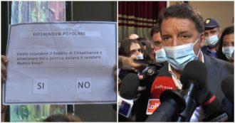 """Reddito di cittadinanza, Renzi a Napoli insiste: """"Va abolito, è voto clientelare dei 5 stelle"""". Contestato dai disoccupati fuori dal teatro"""