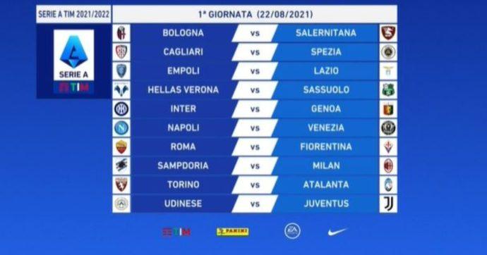 Serie A, il calendario della nuova stagione: l'Inter ricomincia dal Genoa, la Juve a Udine. Per la Roma di Mourinho c'è la Fiorentina