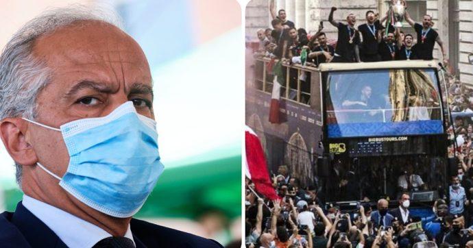 """Europei, il caso del bus scoperto. Il prefetto di Roma contro la Figc: """"Il permesso non c'era"""". Replica: """"Scelta condivisa dalle istituzioni"""""""