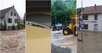 """Germania, alluvione devasta due regioni: almeno 58 morti e decine di dispersi. Diga a rischio crollo, evacuate tre città. Merkel: """"Catastrofe"""". La ministra: """"Colpa dei cambiamenti climatici"""""""