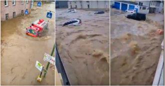 Germania, morti e decine di dispersi a causa di un'esondazione: fiume spazza via le abitazioni – Video