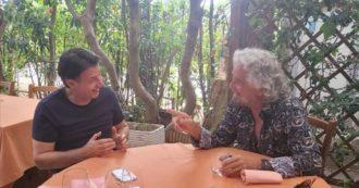 """Beppe Grillo e Conte si sono incontrati per pranzo a Marina di Bibbona. Il garante pubblica la foto: """"E ora pensiamo al 2050"""""""