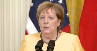 Alluvioni in Germania, la cancelliera Angela Merkel: