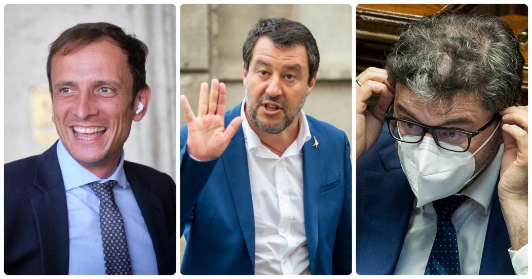 """Green pass, Salvini: """"Come in Francia? Un casino totale. Ai giovani il vaccino non serve"""". Letta: """"Irresponsabile, non si scherza sulla salute"""""""