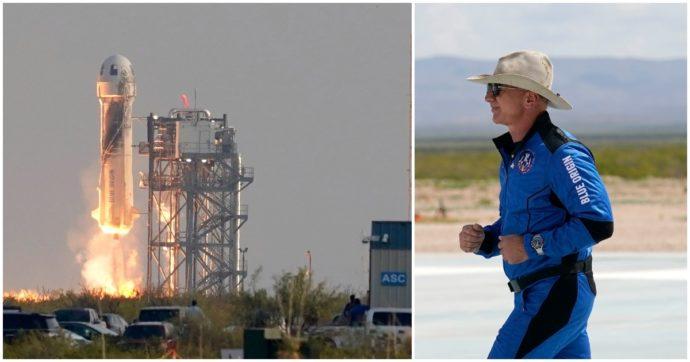 """Jeff Bezos dopo il suo primo volo nello Spazio: """"Non ero nervoso, è stata un'esperienza piacevole. È stato il primo passo, non vedo l'ora di rifarlo"""""""