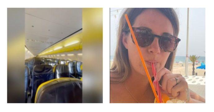 """È l'unica passeggera in un volo Ryanair dalla Spagna verso la Gran Bretagna: """"Trattamento da regina, sola con 188 posti vuoti"""""""