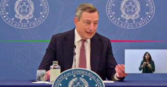 """Draghi: """"L'appello a non vaccinarsi è l'appello a morire. Senza protezione si deve chiudere tutto di nuovo"""" – Video"""