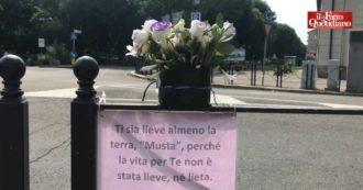 """Voghera, fiori e messaggi nel luogo in cui è stato ucciso il 39enne. E la sindaca sfugge ai giornalisti: """"L'assessore si è autosospeso"""""""