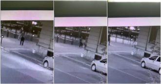 Voghera, le immagini degli attimi prima dello sparo: l'aggressione poi il colpo – Video
