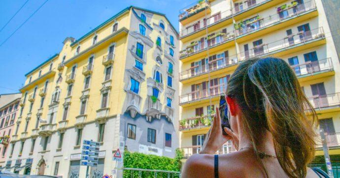 Milano come Barcellona: spunta un murale che ricorda gli edifici di Gaudì