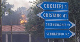 """Incendi Oristano, la Sardegna brucia da più di 60 ore: allerta massima nei Comuni. Solinas: """"Condizioni mai verificate prima"""""""