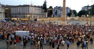 No green pass, a Roma anche i leghisti Siri e Borghi: dalla piazza cori contro Draghi e Speranza. Ma le altre manifestazioni sono un flop