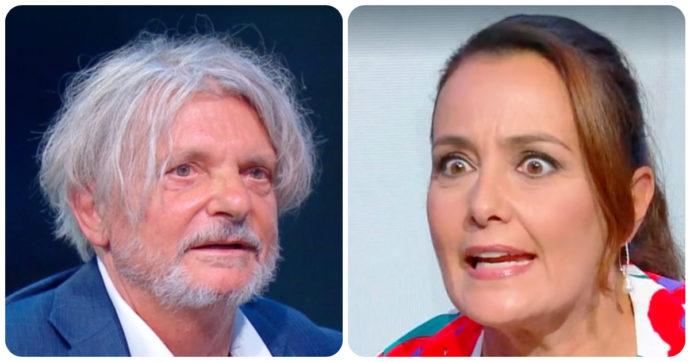 """Estate in diretta, la battuta hot di Massimo Ferrero a Roberta Capua. Lei lo gela: """"Ci sta guardando mio marito"""""""