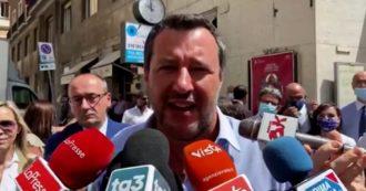 """No green pass, Salvini sul sit-in a Roma con Borghi e Siri: """"Non c'era l'adesione ufficiale della Lega. Cittadini liberi di partecipare"""""""