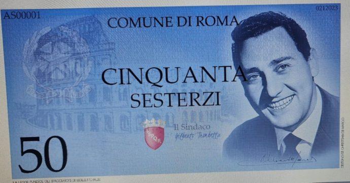 """Elezioni Roma, l'idea del candidato Trombetta: il sesterzio come moneta locale, che poi diventa """"Operazione souvenir"""" per i turisti"""