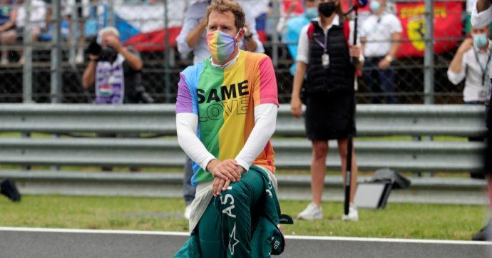 """Gp Ungheria, Vettel contro Orban e regole F1: maglietta pro Lgbt durante l'inno iniziale. """"Sostengo chi soffre, squalificatemi"""""""
