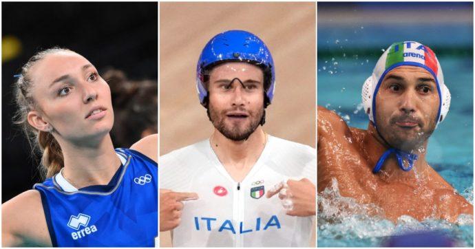 Gli azzurri in gara il 4 agosto alle Olimpiadi: l'inseguimento a squadre su pista per l'oro, volley femminile e Settebello contro la Serbia