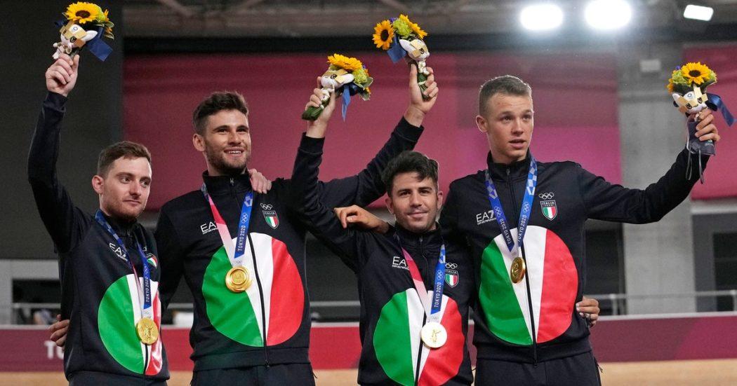 Oro e record del mondo: Ganna show trascina il quartetto maschile di inseguimento su pista. Delusione volley e pallanuoto: squadre azzurre travolte dalla Serbia