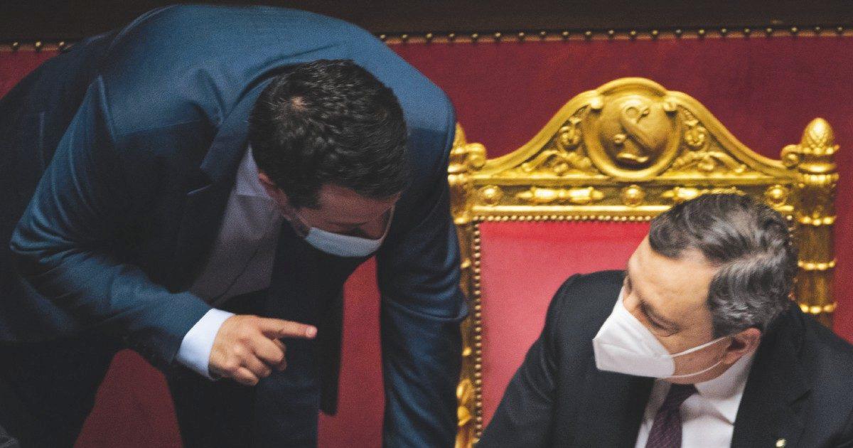 Mille emendamenti di Salvini contro green pass e Draghi