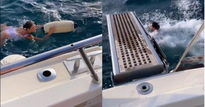 """Elisa Isoardi, lo yacht ha un problema e lei si tuffa tra le onde per risolverlo: """"Stava andando al largo…"""""""