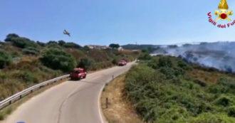 Incendi nel Sud Italia, 800 interventi dei vigili del fuoco in un solo giorno: le immagini