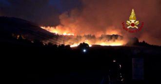 Incendi nel Palermitano, fiamme a Petralia Soprana: vigili del fuoco al lavoro per spegnere i roghi. In funzione anche i canadair